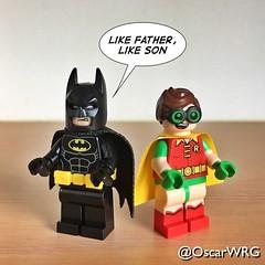 #LEGO #BatmanAndRobin #Batman #Robin #LikeFatherLikeSon #brickcentral_batman @dccomics @legobatmanmovie Brickset (@OscarWRG) Tags: lego batmanandrobin batman robin likefatherlikeson brickcentralbatman