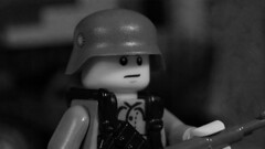 Lego Chinese Soldier (1937) (Force Movies Productions) Tags: wwii lego toy military minfig kmt china chinese second sinojapanese war brickarms photograpgh black white soldier trooper rifle republic gear 1937 promo asia asian wars nationalist communist