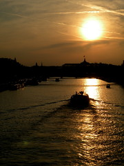 (Vanilla Monkey Bear) Tags: sunset sky paris reflection water seine clouds river lovely myfave