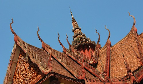 Roof of the at the National Museum - Phnom Penh, Cambodia
