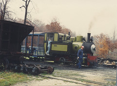 The Hesston Steam Museum. Hesston Indiana. Late October 1991.