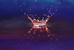 Beauty of drop (domnicjohnson) Tags: world blue india reflection home water studio nikon colorful asia time creative drop splash hyderabad inspiring strobe hpc collision andhrapradesh hws cinmod domnicjohnson