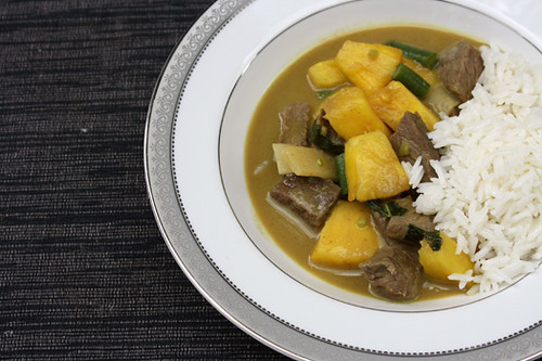 Green Curry Beef with Pineapple, Coconut Rice 3