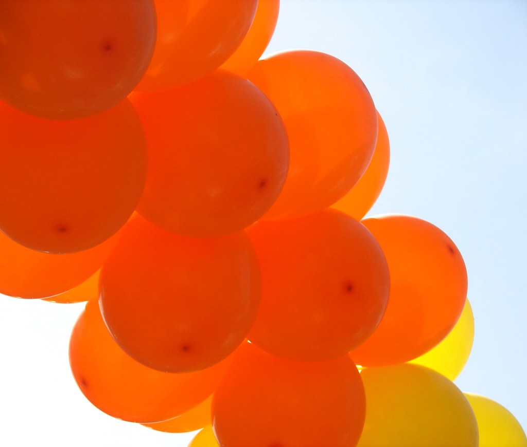 Orange and Yellow Balloons