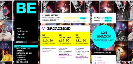 Be Broadband homepage customised version