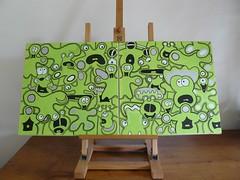 Aliens In Green Fields (Jepeinsdesaliens) Tags: lines illustration graffiti design sketch drawing vert aliens characters vernon contours skall création graphisme greenfields cissor poscapens poscaart poscadesign