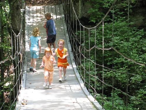 Running on the Suspension Bridge