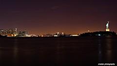 Lower Manhattan, Brooklyn and Statue of Liberty (cvrestan) Tags: newyorkcity lowermanhattan newyorkatnight atimonanin
