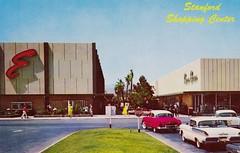 Stanford Shopping Center Palo Alto CA (hmdavid) Tags: california architecture modern vintage mall shopping postcard 1950s bayarea paloalto emporium midcentury stanfordshoppingcenter weltonbecket