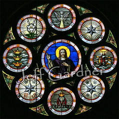 Priest, Prophet, and King (*Jeff*) Tags: church window catholic stainedglass