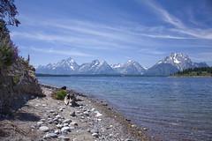 tetons over jackson lake (chanzi) Tags: summer vacation lake wyoming grandtetons tetons 2009 jacksonlake