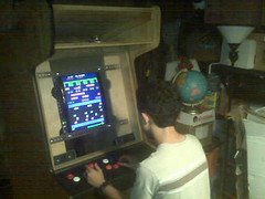 Ben plays his first game on his MAME