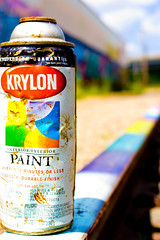 Krylon Rainbow (~Sh@wn~) Tags: graffiti paint traintracks tags spraypaint krylon paintcan daytonohio colorfulpaint