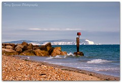 Island in the sun (TDR Photographic) Tags: uk blue sea summer england sky beach canon landscape coast rocks raw adobe isleofwight dorset groyne lightroom hengistburyhead eos5d
