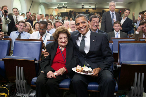 Photo: Helen Thomas & Barack Obama