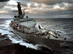 [フリー画像] [船舶/ボート] [軍用船] [フリゲート] [23型フリゲート ウェストミンスター] [HMS Westminster]      [フリー素材]