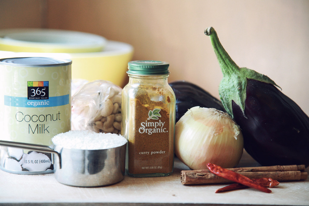 Eggplant Curry: ingredients
