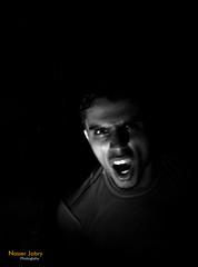 pain (nasabry) Tags: portrait bw dark pain scream stress furious charlesdickens hypertension nasserjabry