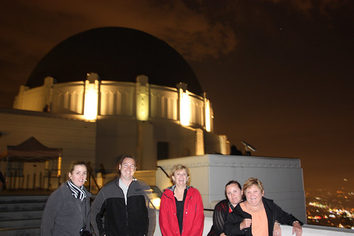 Kelly, Mat, Madonna, Fiona and Sue at Griffith Observatory