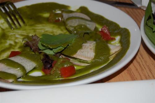 Pesto turnip ravioli at Quintessence