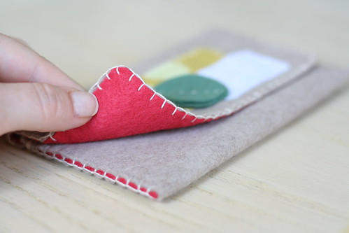 new leafy felt wallet!