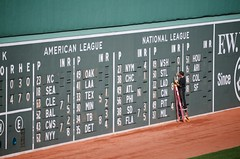 Fenway Scoreboard (@mikepick) Tags: boston baseball redsox fenwaypark scoreboard