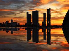 Miami sunset explosion -III (iCamPix.Net) Tags: sunset canon landscape florida miami professionalphotographer miamidade downtownmiami 8487 markiii1ds miamireflection