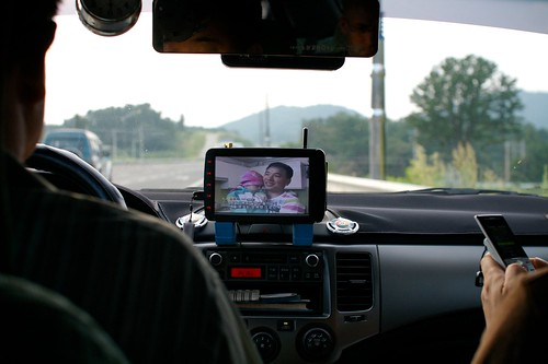 Watching TV while driving