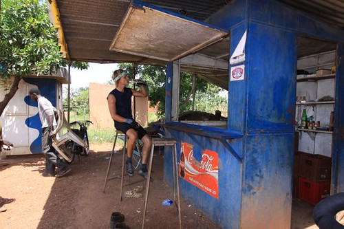 Drink stop in the oppressive Burkinabé noon heat...