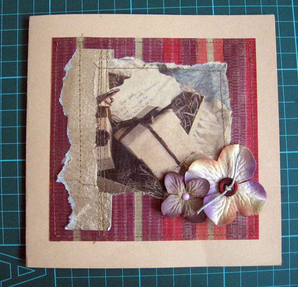 Скрапбукинг открытки из подручных материалов