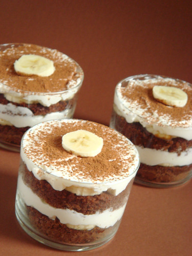 Brownies-banana tiramisu