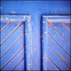 (Katerina.) Tags: blue texture lines geometry urbandecay surface minimal 500x500 doordetail linescurves photographia haphazart haphazartblue haphazartlines haphazartgeometrics bestminimalshot ministract haphazartsquare