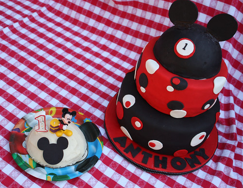 Anthony's Mickey Mouse Birthday Cake