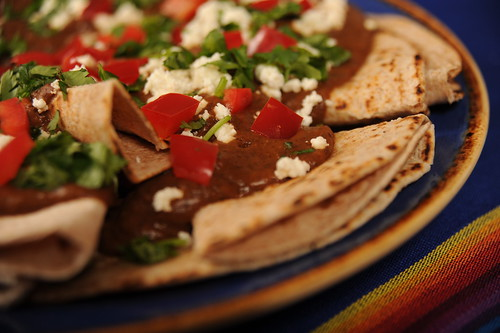 Tortillas with Black Bean Puree