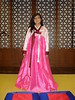 Dressing up in traditional Korean …