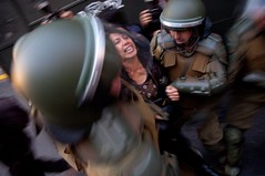 Mitin contra la represión al pueblo Mapuche