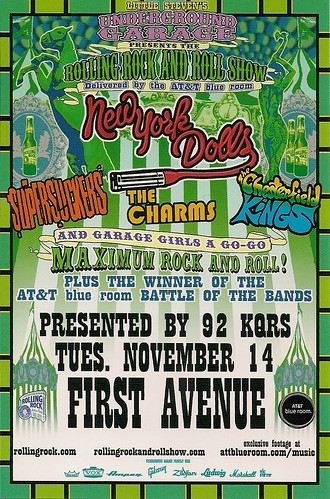 11/14/06 New York Dolls/Supersuckers/The Charms/Chesterfield Kings @ Minneapolis, MN (Handbill)