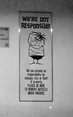 we're not responsible
