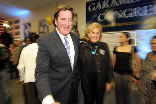 John and Patty Garamendi on Election Night in Walnut Creek.