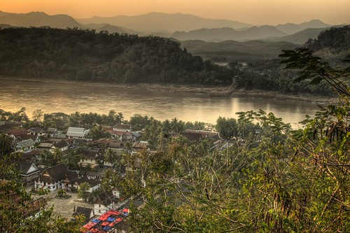 Buildings of Luang Prabang and the Mekong