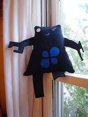A Plush A Day Challenge: Day 17 - FUDbot (front)