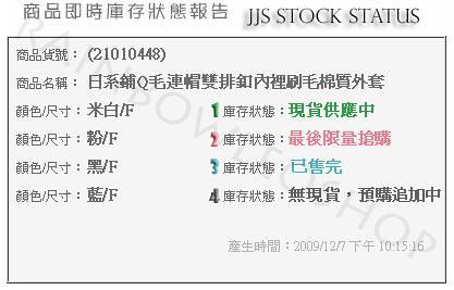 JJS Stock Status