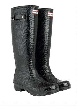 Hunter wellie Carnaby snakeskin