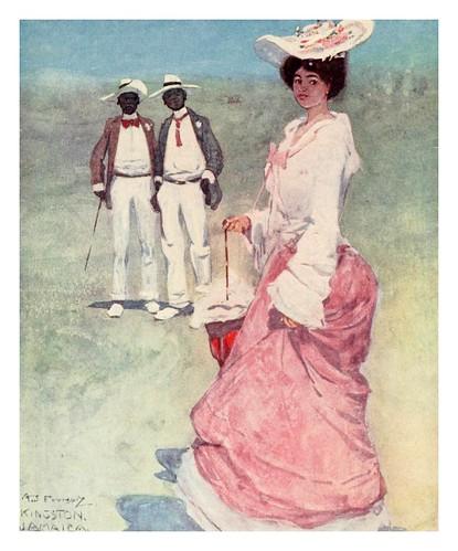 030- Una mulata en un hipodromo de Jamaica-The West Indies 1905- Ilustrations Archibald Stevenson Forrest