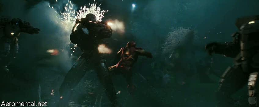 Iron Man 2 Trailer 2 War Machine Shooting