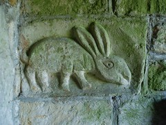 Romanesque Rabbit (Aidan McRae Thomson) Tags: church worcestershire elmleycastle