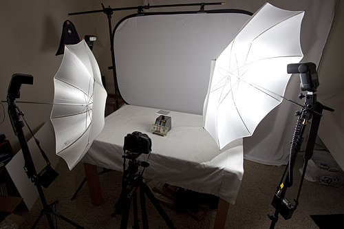 Canon 7D tests lighting Setup