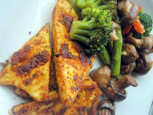 Broiled Blackened Tofu