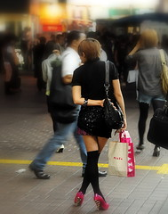 Shibuya Train Station /  () Tags: plaza camera vacation woman holiday stockings girl fashion night shopping bag asian island tokyo nikon pumps highheels legs gare curves shibuya mini skirt heels  paparazzi nippon  mulheres  70300mm mujeres isle miniskirt fille pantyhose rtw japon nihon edo kanto vacanze japanesegirl railstation globetrotter tokyometro japn honshu shoefetish shibuyastation   leatherbags shibuyaward  worldtraveler shibuyaku nightcapture 22days landoftherisingsun  nihonkoku nipponkoku tkyto kneehighstockings  leatherbag  d700 tokyometropolis  shibuyatrainstation  tkei
