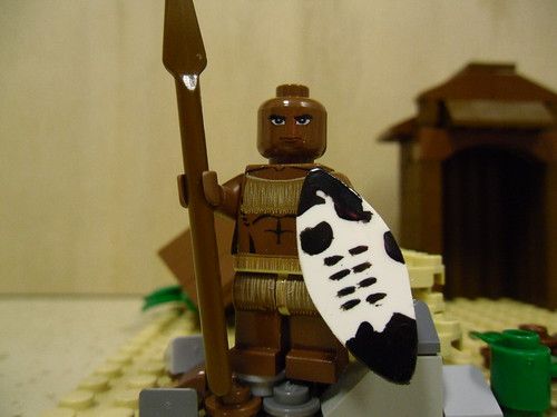 Zulu Warrior custom minifig